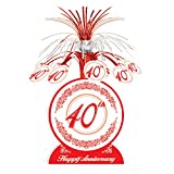 40th Anniversary Centerpiece Party Accessory (Value 3-Pack)