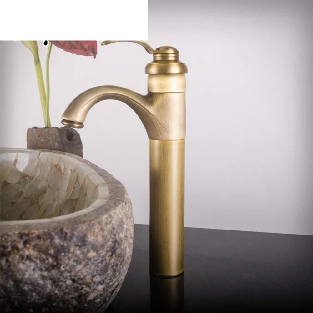Oudan Full of antique copper teapot shaped basin counter basin faucet Art basin faucet Ceramic basin faucet-A (color   -, Size   -)