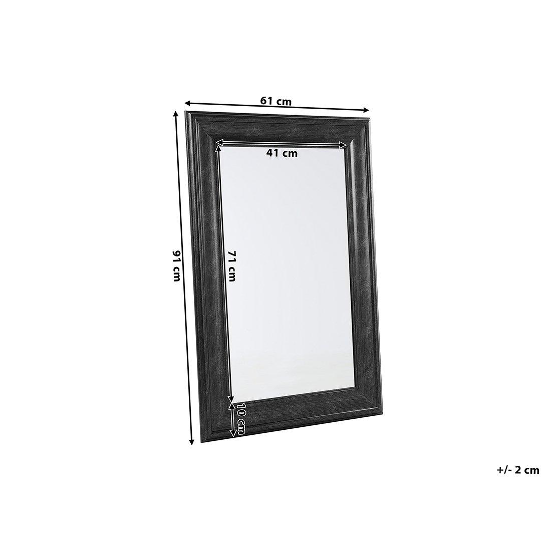 LUNEL 61x91cm Beliani Specchio Moderno da Parete con Cornice Nera