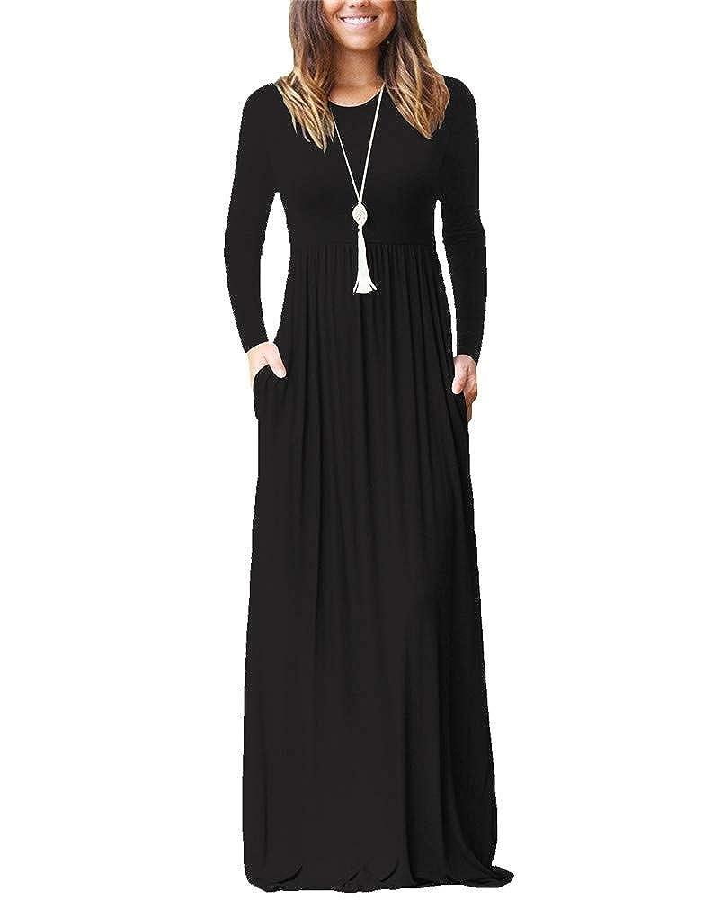 03black Fendxxxl Women's Sleeveless Racerback Dress Casual Loose Plain Long Maxi Dresses with Pockets S2XL