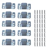 Loosco Universal Sectional (10 Pack) Sofa Couch Interlocking Metal Silver Furniture Connector Screws