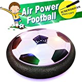 EpochAir Soccer Toy, Boy Toys, Hockey Football 2-in-1 Floating Girl Toys with Reinforced Battery Cover, Mini Screwdriver, Foam Bumpers and Colorful LED Light for Indoor or Team Games