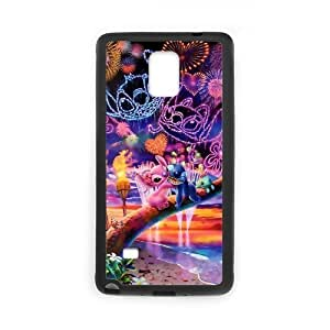 LeonardCustom Protective Hard TPU Rubber Cover Case for Samsung Galaxy Note 4, Lilo and Stitch -LCN4U31