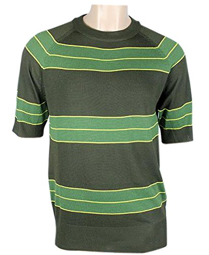 Kurt Cobain Costume (Kurt Cobain Sweater Green Striped Shirt Costume Nirvana Smells Like Teen Spirit (M))
