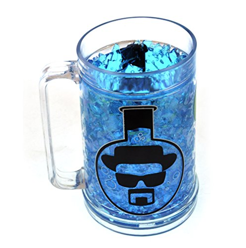 Price comparison product image Breaking Bad Blue Frosted Crystal Heisenberg Beer Mug