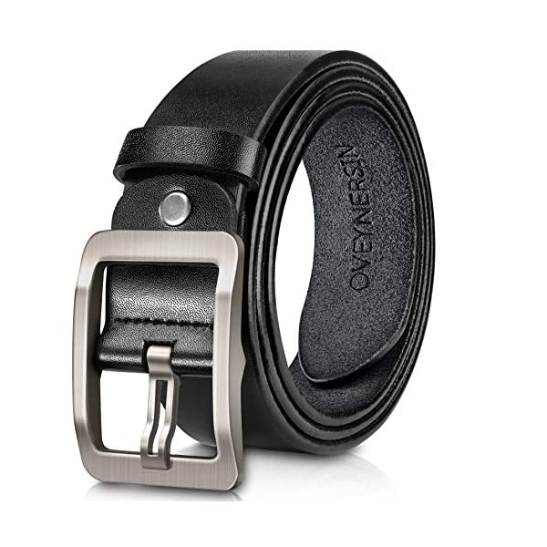 Men's Belt, OVEYNERSIN Genuine Leather Causal Dress Belt for Men with Classic...