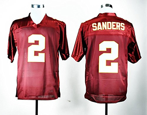 Men's Florida State Seminoles #2 Deion Sanders College Football Jersey Red X-Large