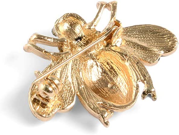 2 PCS belle petite abeille broche dessin anim/é abeille en forme de broche mode abeille broche cr/éative en forme dabeille femme broche d/élicat pardessus collier d/écor pour dame portant