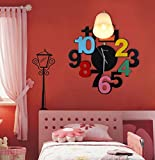 Cartoon Clock Wall Lamp Children Lighting Bedroom Boys And Girls Room Bedside Lamp Led Lighting