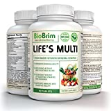 Life's Multi by BioBrim – Natural Whole Food Multivitamin for Women and Men – 42 Fruit & Vegetable Blend with Probiotics, Digestive Enzymes & Mineral Complex