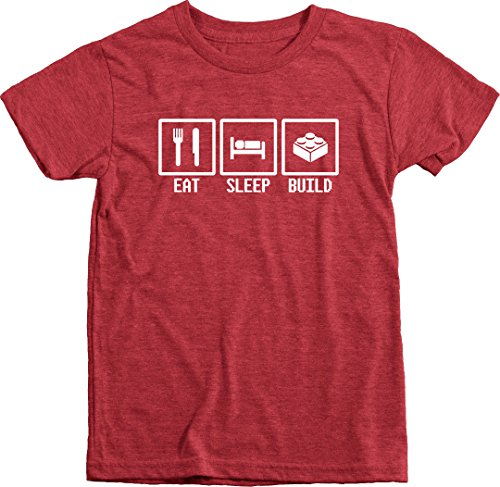 Trunk Candy Eat, Sleep, Build - White - Boys Tri-Blend T-Shirt...