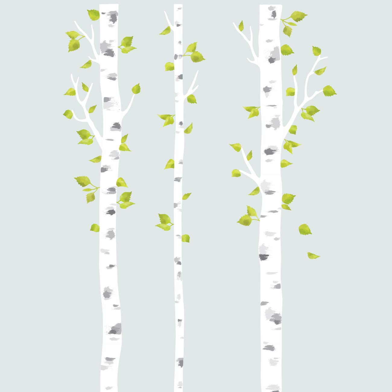 DECOWALL DLT-1714 White Birch Trees Fabric Wall Decals Wall Stickers Removable Reusable Peel and Stick Non Toxic for Kids Nursery Bedroom Living Room by Decowall