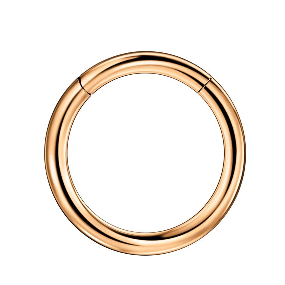 Buy Fansing 16mm Piercing Earrings For Women Men Thick Rose Gold