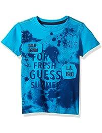 GUESS Little Boys' Short Sleeve Summer Graphic T-Shirt