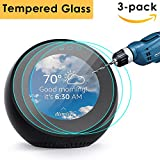 CAVN 3 Pcs Amazon Echo Spot Screen Protector Full Coverage Tempered Glass High Definition Screen Protector for Amazon Echo Spot with [Premium Clarity] [Anti-Scratch] [No Bubble Install]