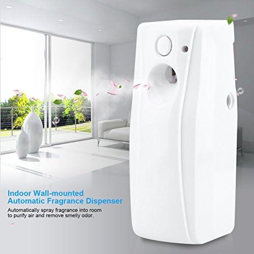 Bicaquu Indoor Wandmontage Automatischer Lufterfrischer Duft Aerosol Sprühspender mit Lichtsensor