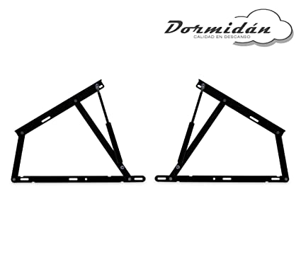 Dormidán - Pack 2 Sistema de elevación con amortiguadores, bisagras + resortes de Gas para