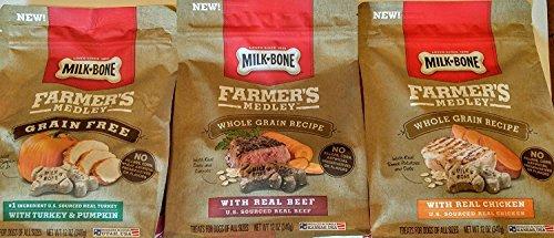Milk-Bone Farmer's Medley Dog Treats, Variety Bundle Grain