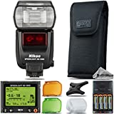 Nikon SB-5000 AF Speedlight For D3000, D3100, D3200, D3300, D5000, D5100, D5200, D5300, D5500, D7000, D7100 Nikon Digital SLR. All Original Accessories Included - International Version