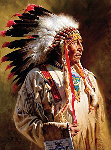 Ceaco Native Portraits - Profile of A Chief Puzzle (1000 Piece) - Chief Portrait