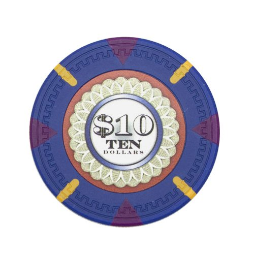 Claysmith Gaming The Mint Poker Chip Heavyweight 13.5-gram Clay Composite – Pack of 50 ($10 Dark Blue) - Clay Poker Pro Poker