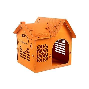 AB pet nest Perrera Perro Gato camada casa Villa Cuatro Estaciones Universal extraíble Lavable Mascota Nido pequeño Perro casa - Naranja: Amazon.es: Hogar