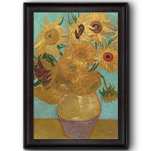Still Life: Vase with Twelve Sunflowers by Vincent Van Gogh Oil Painting Impressionist Artist Framed Art
