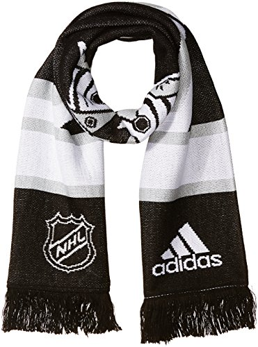 fan products of NHL Los Angeles Kings Adult Men Pro Authentic Scarf with Oversized Cropped Logo, One Size, Black