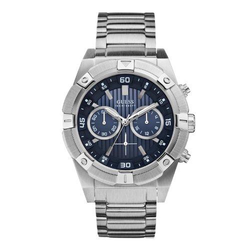 Guess W0377G2 45mm Silver Steel Bracelet & Case Mineral Men's Watch