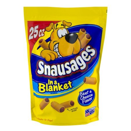 Snausages Beef & Cheese - 25 oz - Pack of 3 ()