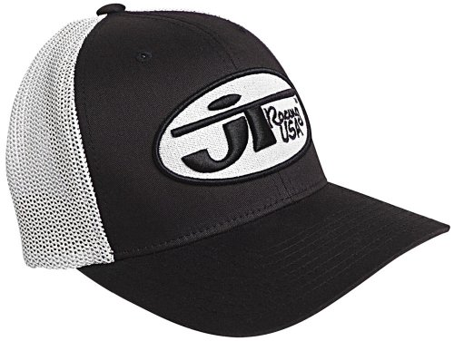 Racing Hat Cap Baseball (JT Racing USA Hat with Oval Logo (Black/White, Large/X-Large))