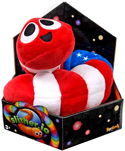 Slither Io Jumbo 24  Bendable Plush Toy In Box   Patriot American Flag Color