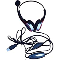 Voistek Call Center Headset with Microphone for Computer USB Connection & VM (H20USB)