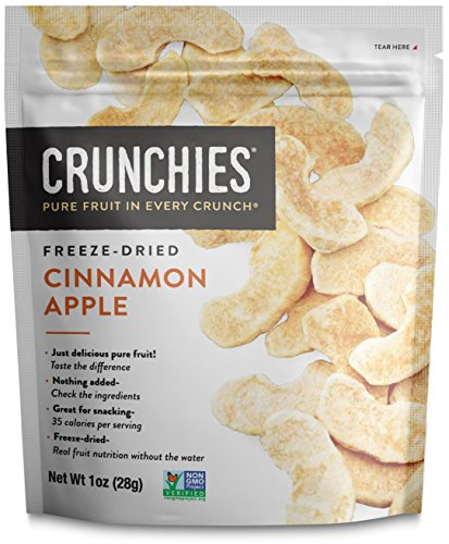 Crunchies Crispy 100% All Natural Freeze-Dried Fruits, 1 Ounce (6 Snack Pack) (Cinnamon Apple) Cinnamon Apple Slices
