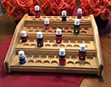 Essential oils rack / display, EO storage stand for 76 bottles, oil organizer w/ dual bottle sizing, EO holder for 5ml and 15ml bottles, 4 colors! Great fit for Young Living and doTerra oils!