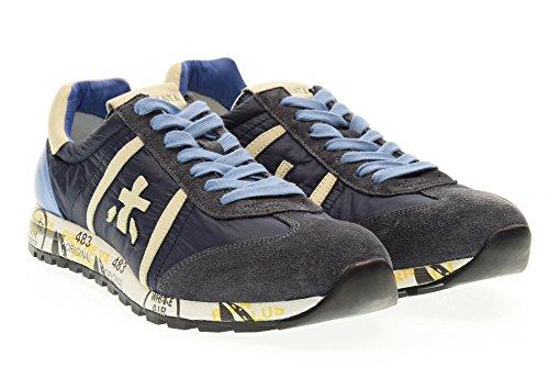 Premiata 1298e celeste Blu Scarpe Sneakers Uomo Lucy Basse qRzqAwB