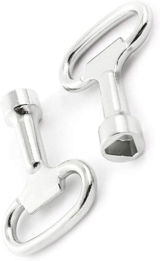 R Llave Ranura para Perno Triple Esquinas Panel Triangular Metal 8 mm x 2 Hemore