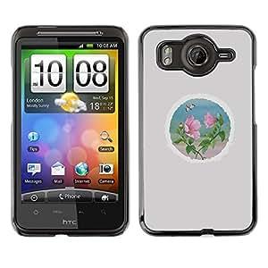 TopCaseStore / la caja del caucho duro de la cubierta de protección de la piel - Petal Round Minimalist Grey - HTC G10