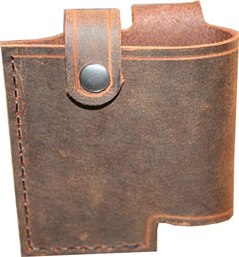 Wireless Transmitter Sheath - Line 6 Relay Holster - For G30, G60, and G90 Packs - Genuine Buffalo Leather - Hip Carry - Strap Carry - Handmade In The USA ()