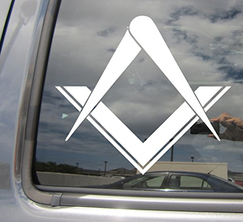 Freemason Masonic Square Compass Stonemasons - Cars Trucks Moped Helmet Hard Hat Auto Laptop Vinyl Decal Window Wall Sticker 10001