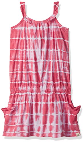 Burt's Bees Kids Little Girls' Organic Slouch Pocket Tank Dress, Watermelon, 6X