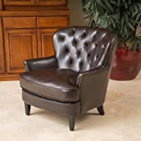 Melford Royal Vintage Design Brown Leather Arm Chair