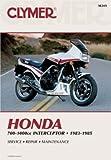 M349 1983-1985 Honda Interceptor VF700 VF750 V45 VF1000 Clymer Motorcycle Repair Manual