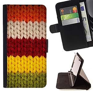For Samsung Galaxy J3(2016) J320F J320P J320M J320Y Case , Red Greeen Invierno Suéter Caliente- la tarjeta de Crédito Slots PU Funda de cuero Monedero caso cubierta de piel