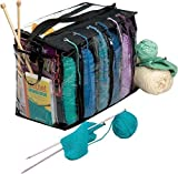 Knitting Tote Bag Needles Yarn Crochet Afghan Needles Hook Knitter Organizer