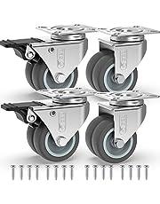 GBL® 4 x Wielen 50mm Heavy Duty wielen Swivel wiel Rubber wielen voor meubels tafel trolley werkbank garage …