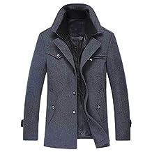Cozy Age Mens Wool Pea Coat Winter Jacket Coat