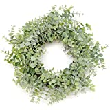 "Silvercloud Trading Co. 18"" Artificial Green Eucalyptus Wreath"