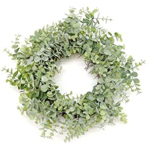 """Silvercloud Trading Co. 18"""" Artificial Green Eucalyptus Wreath 18"""