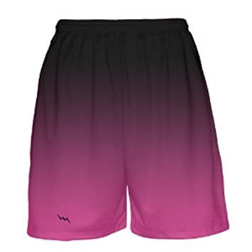e399c9a86cba4e Amazon.com   Black to Pink Fade Basketball Shorts by Lightning Wear - Mens Basketball  Shorts- Youth Basketball Shorts   Clothing